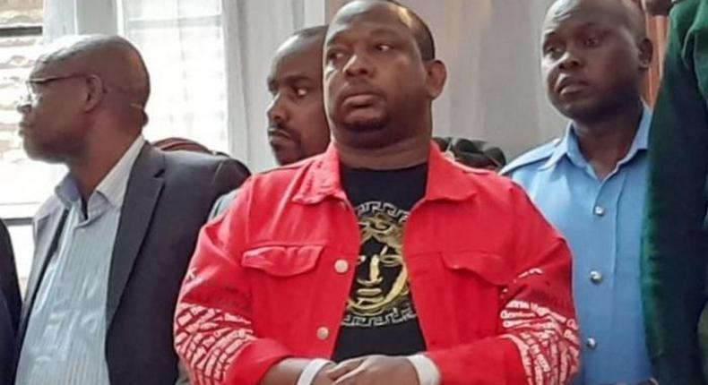 File image of Nairobi Governor Mike Sonko at Milimani Law Courts during his bail hearing on December 11, 2019. He is among three governors barred from accessing their offices as part of bail terms