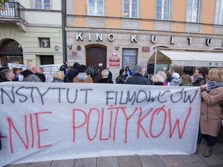 Protest filmowcow pod PISF