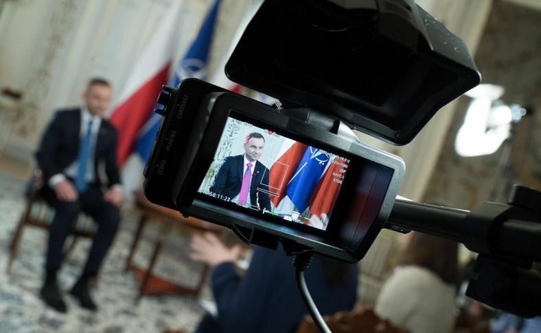 Prezydent Andrzej Duda udziela wywiadu