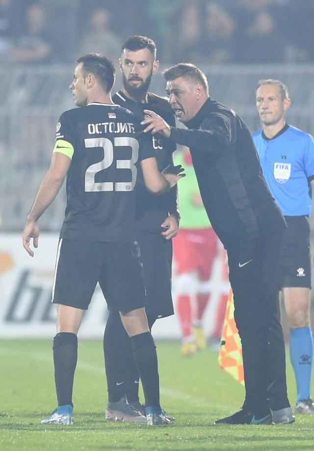 Savo Milošević, Ostojić i Šćekić na meču FK Partizan - FK Crvena zvezda u polufinalu Kupa Srbije
