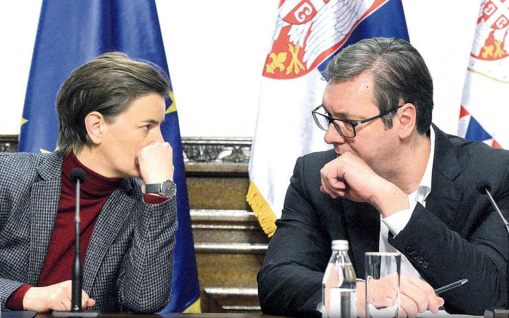 Ana Brnabić i Aleksandar Vučić, pregovori o članstvu u sns
