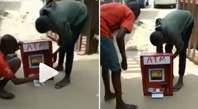 Little boy makes ATM that dispenses cash (video)
