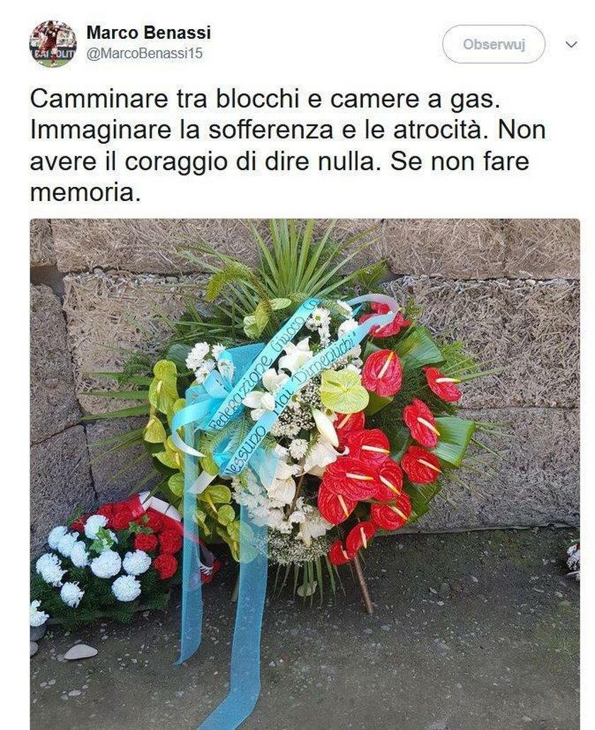 Wizyta włoskich piłkarzy w Auschwitz