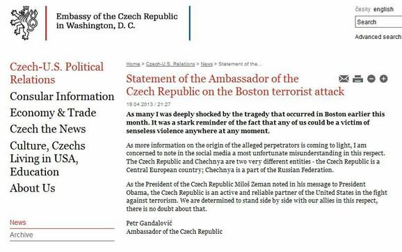 I to mora nekad da se radi: Saopštenje češkog ambasadora