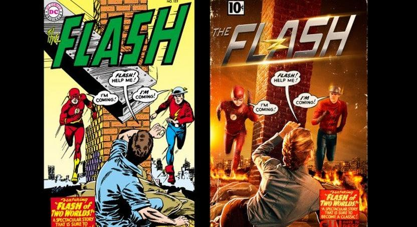 first look at Teddy Sears as Jay Garrick pays homage to the comics.