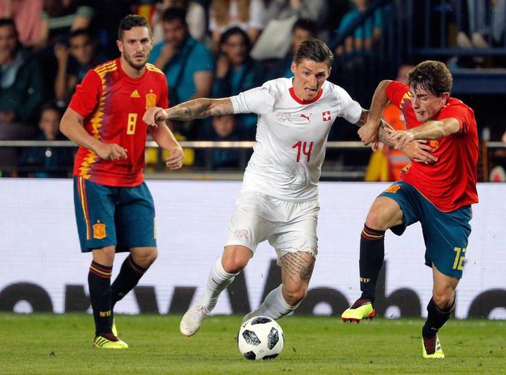 Fudbalska reprezentacija Španije, fudbalska reprezentacija Švajcarske