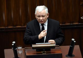 Kaczyński na debacie po expose Szydło: Konstytucja, ordynacja, jawność w życiu publicznym