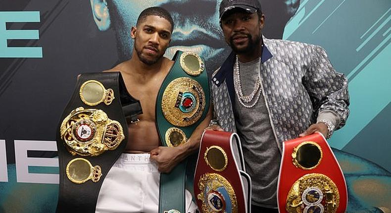Anthony Joshua has Floyd Mayweather in his corner ahead  of his big fight against Tyson Fury (Mark Robinson Matchroom Boxing)