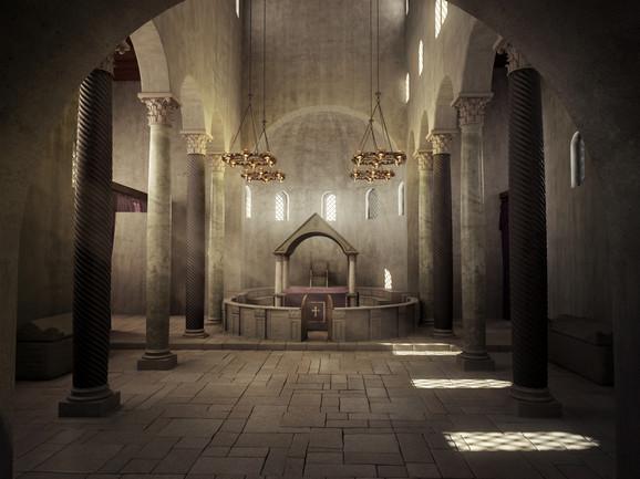 Bazilika Svetog Dimitrija – unutrašnji izgled - rekonstrukcija