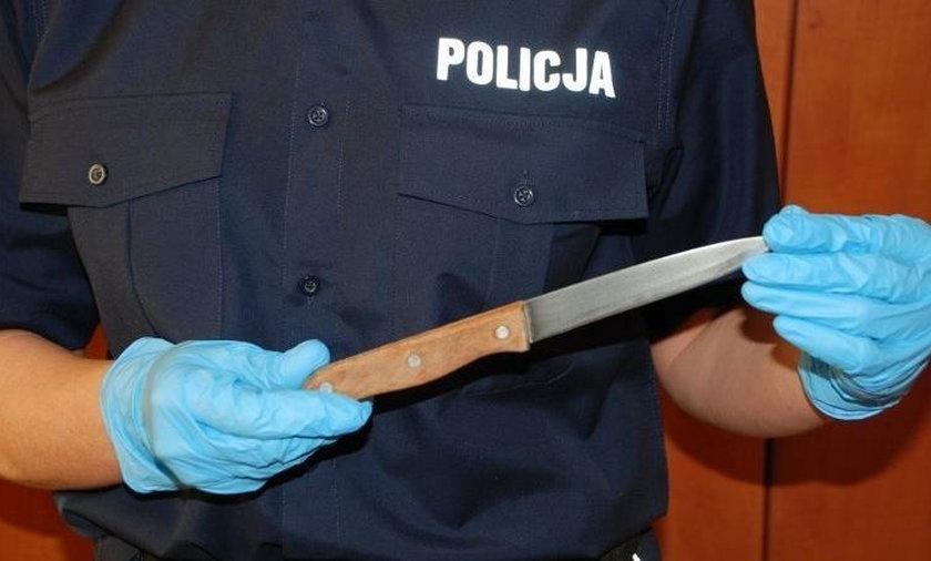 Zadał żonie kilkanaście ciosów nożem. Zginął uciekając