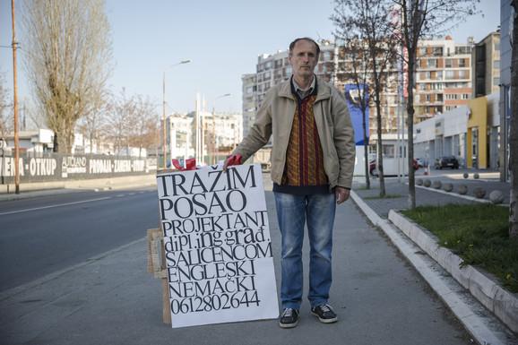 Milan Radojičić za transprarentom