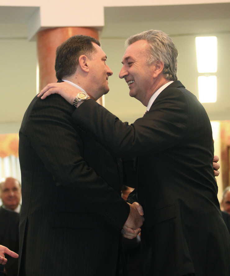 Milorad Dodik SNSD i Mirko Sarovic SDS