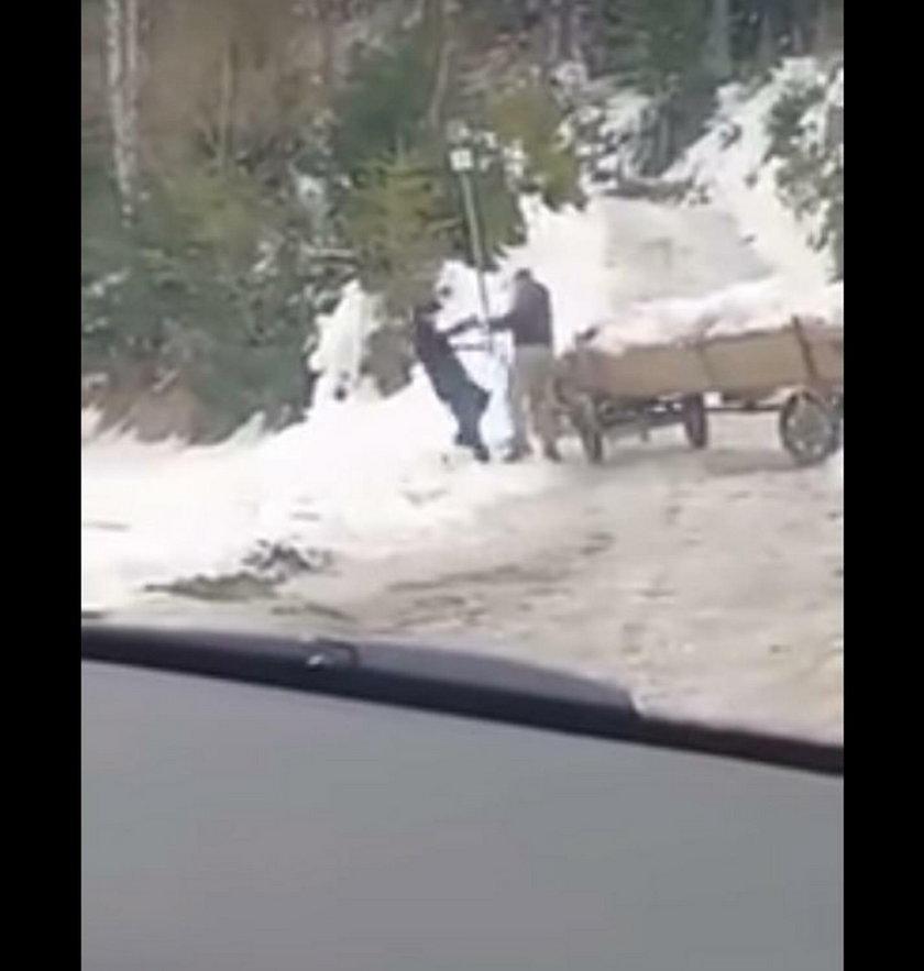 Woźnica poganiał konia na lodzie. Przyłożył mu świadek zdarzenia