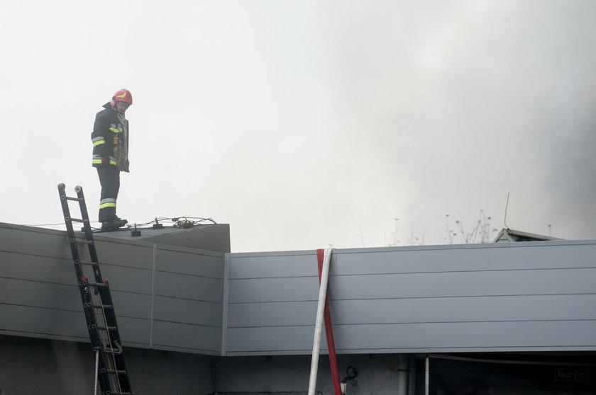 Pożar wysypiska śmieci w Kluczach pod Olkuszem