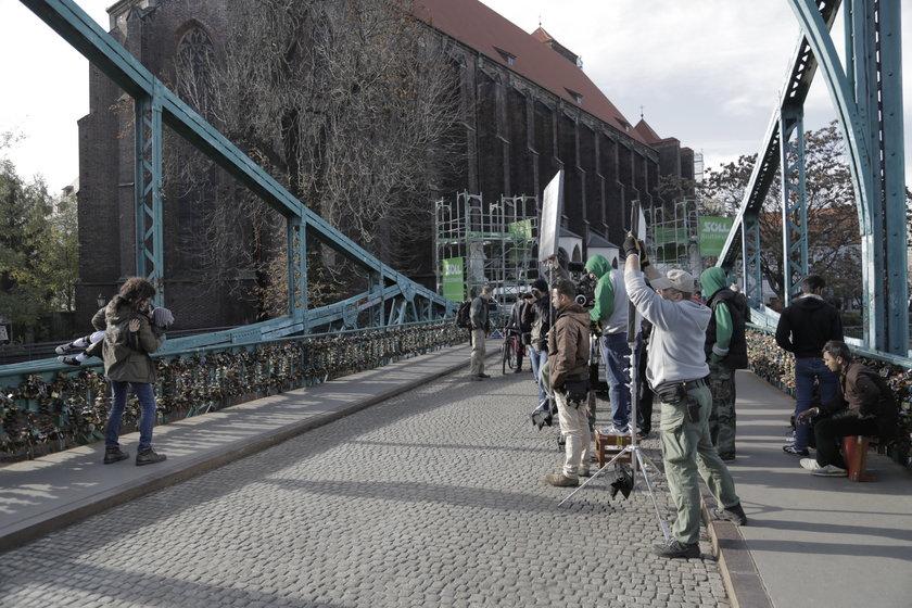 Filmowcy z Bollywood na wrocławskim Moście Tumskim