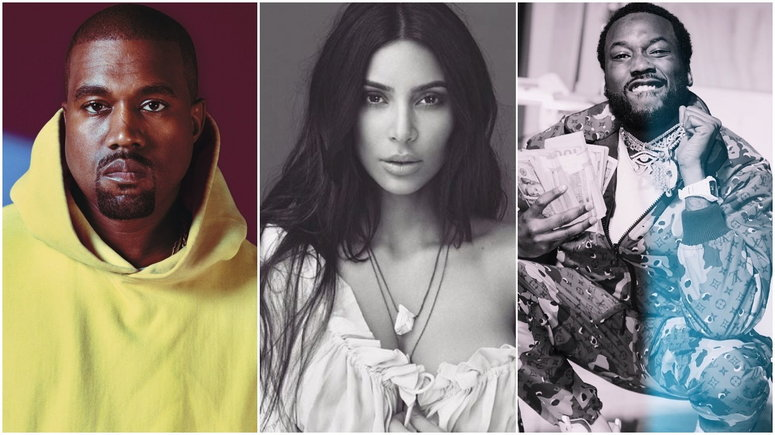 Kanye West called out his wife, Kim Kardashian over meeting with Meek Mill [Instagram/KimKardashian] [Instagram/MeekMill]