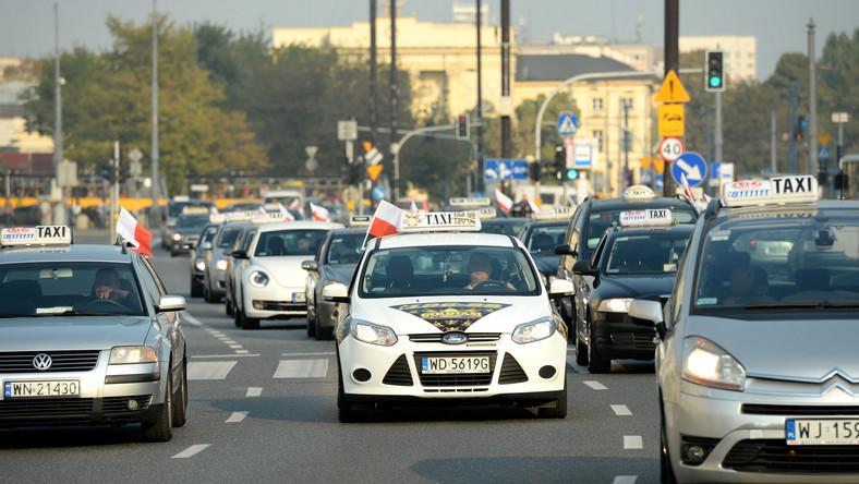 Gdzie i kiedy rusza protest taksówkarzy?