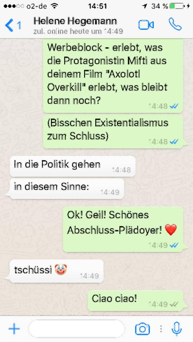 Interview Mit Helene Hegemann Zu Axolotl Overkill