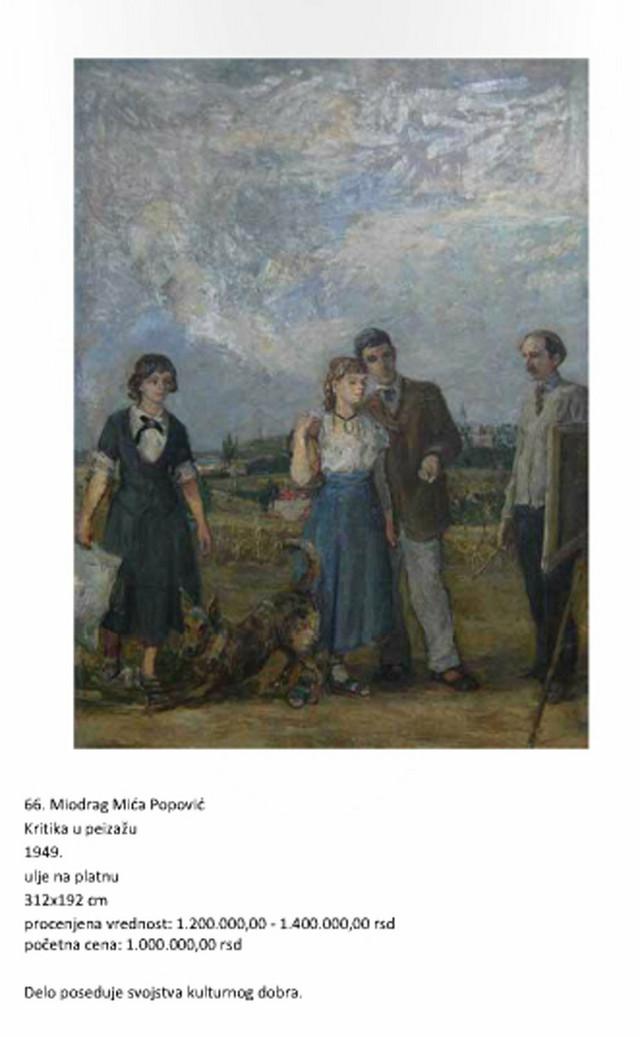 Najvrednija u zbirci:Kritika u pejzažu Miće Popovića (klikni za uvećanje)
