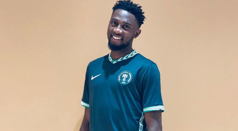 Super Eagles stars model new Nike kits