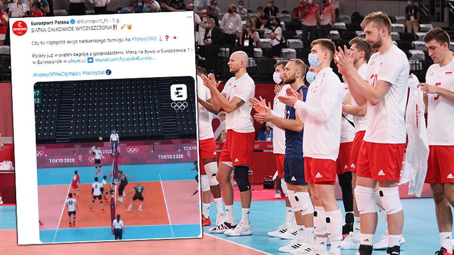 Polscy siatkarze mają powody do niepokoju? To ich czeka w kolejnym meczu (fot. Twitter/Eurosport_PL)