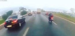 Przerażający wypadek na drodze. Zabiła go latająca opona
