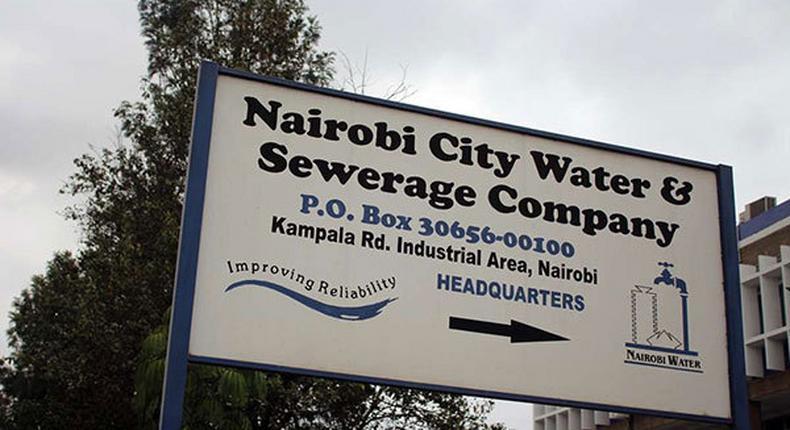 Nairobi City Water and Sewerage Company signage