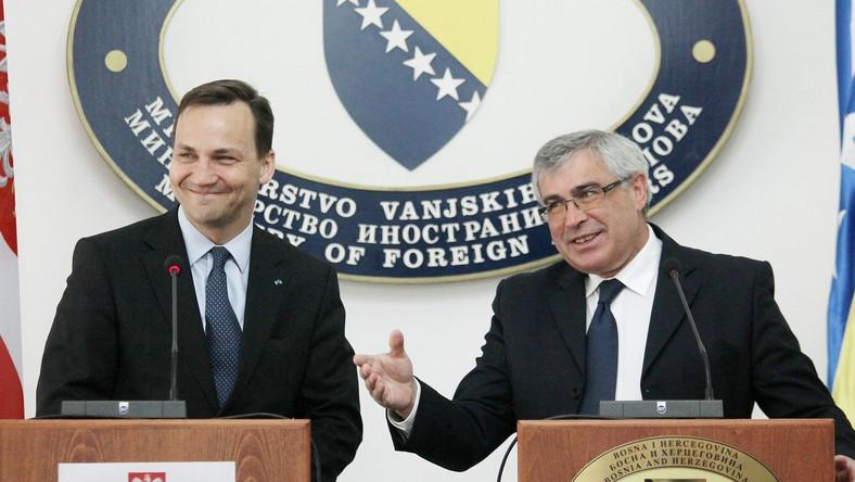 Radosław Sikorski w Bośni