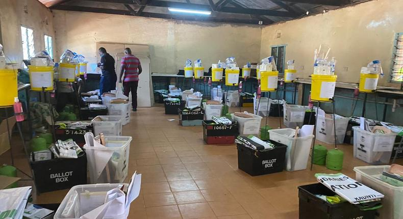 Distribution of election materials ahead of December 15th 2020 by-elections