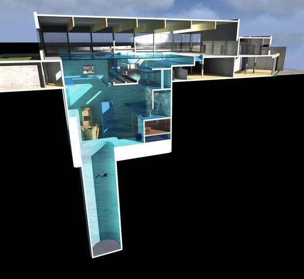 Wizualizacja basenu do nurkowania w Mszczonowie
