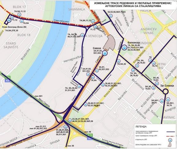 Mapa zatvorenih ulica i alternativnih pravaca