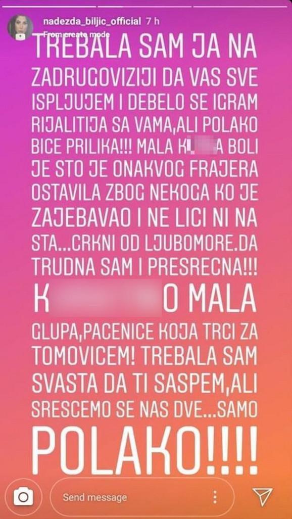 Objava Nadežde Biljić