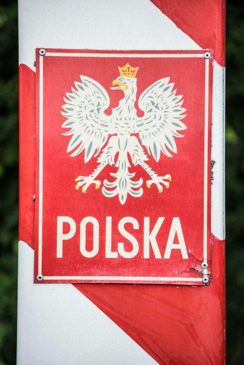 Słupek graniczny w Zasiekach, woj. lubuskie