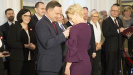 Małgorzata Kożuchowska odznaczona przez prezydenta Dudę
