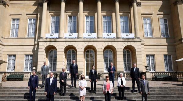 Ministrowie finansów grupy G7 porozumieli się w sprawie wprowadzenia 15-procentowej stawki podatku od globalnych przedsiębiorstw, Londyn 5.06.2021