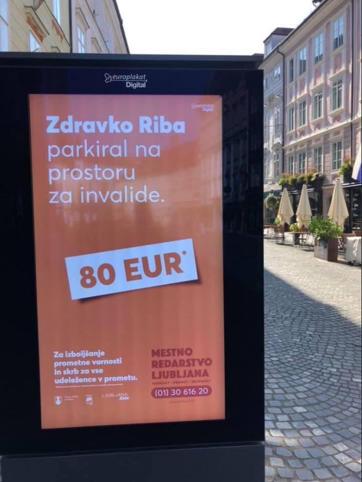 Bilbord u Sloveniji, bahati vozači