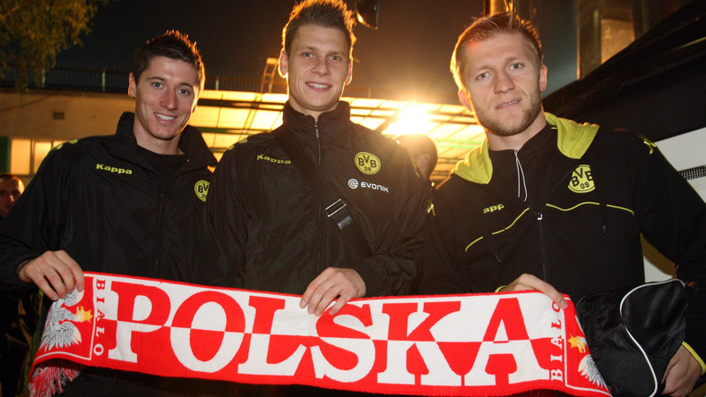 Lewandowski, Piszczek i Błaszczykowski w sobotę moga świętowac zdobycie mistrzostwa Niemiec