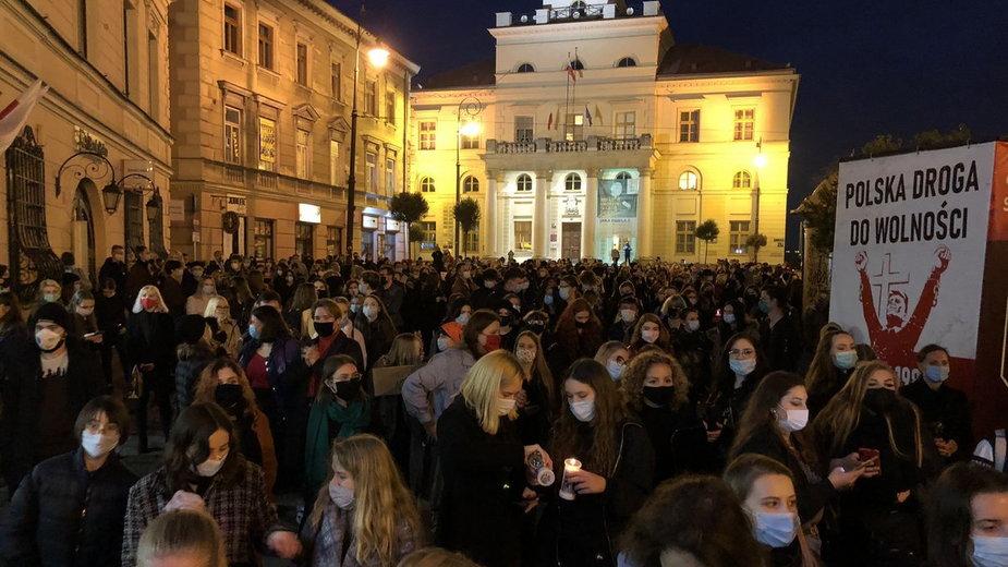 Lublin. Protest przeciwko zaostrzeniu prawa aborcyjnego