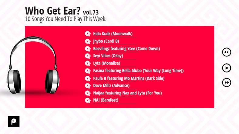 Who Get Ear Vol. 73: 10 Songs You Need To Play This Week. (Pulse Nigeria)