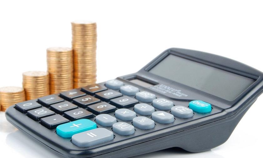 Kalkulator i monety.