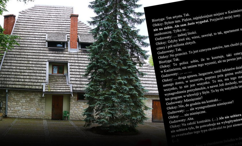 """CBA opublikowało materiały ws. tzw. """"willi Kwaśniewskich""""."""