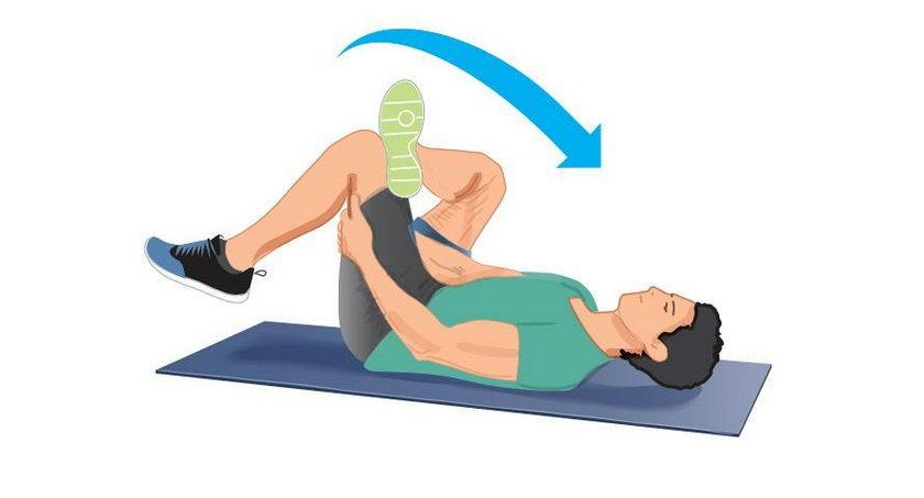Rozciąganie mięśni pośladków