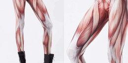 Makabra! To są legginsy z mięśniami...