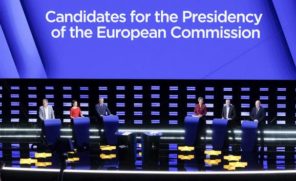 Glavni kandidati za predsednika EK na debati