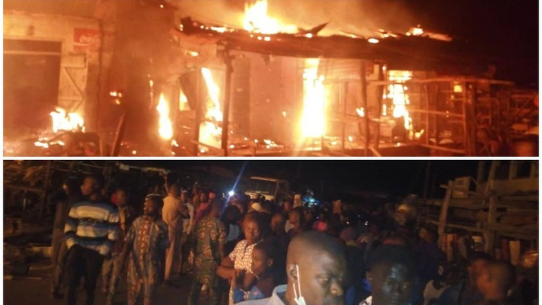 Mob set fire station ablaze in Oyo (Punch)