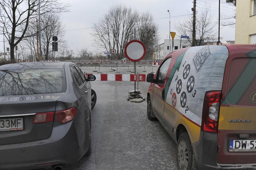 Zamknięcie wylotu ul. Skrajnej we Wrocławiu