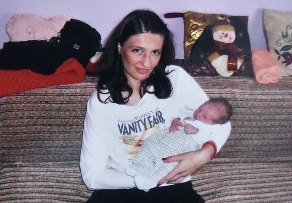 Milena sa sinom Vasilijem