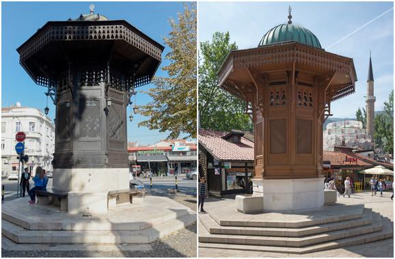 Poreklo iz arapskog sveta: Sarajevska česma u dnu Skadarlije i Sebilj česma na Baščaršiji u Sarajevu