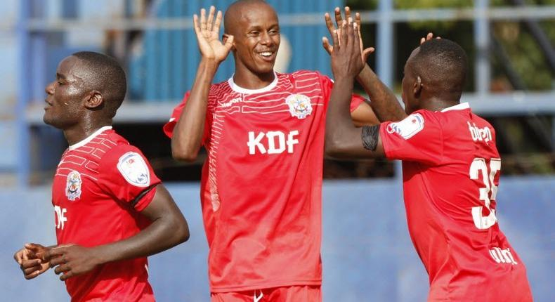 John Makwata with team mates