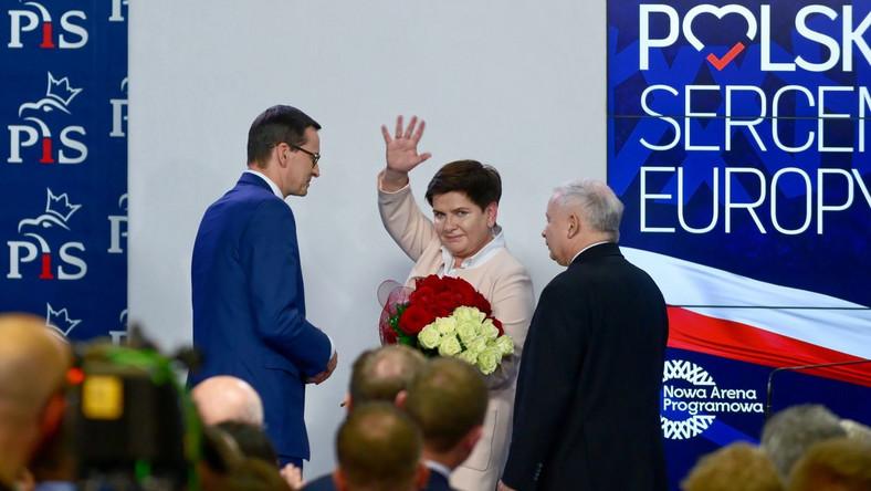 Mateusz Morawiecki, Beata Szydło i Jarosław Kaczyński